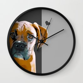 Boxer lovers Wall Clock