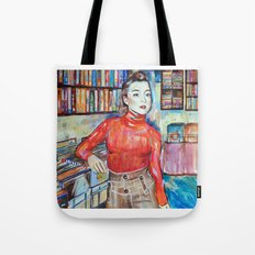 Russian Red, Singer, painting, illustration, art pop Tote Bag
