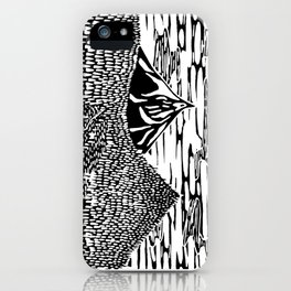 Mountain Block Print iPhone Case