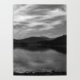 View over the Loch b/w Poster