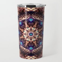 Mandaleyes - Designed for leggings and all over print t-shirts Travel Mug