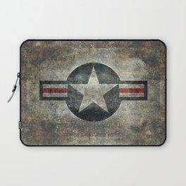 Stylized US Air force Roundel Laptop Sleeve