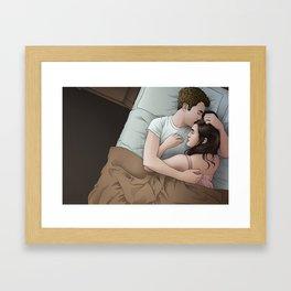 Fitzsimmons - Nighttime Embrace Framed Art Print