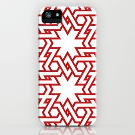 Red and white pattern iPhone Case