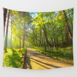 Morning sun in the park Wall Tapestry