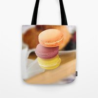 macarons Tote Bags featuring macarons by raffons