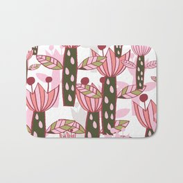 flower pink contemporary kids nursery Bath Mat