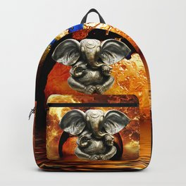 Elephant Ganesha and Earth Backpack