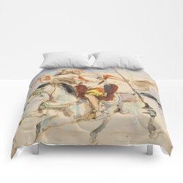 """Eugène Delacroix """"Cavalier arabe à cheval"""" Comforters"""