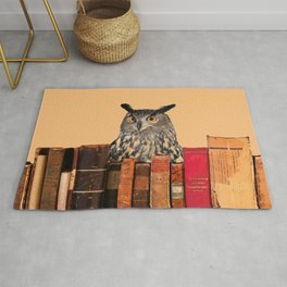 Old Books and Owl Rug