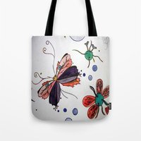 evolution Tote Bags featuring Evolution by Sharixon