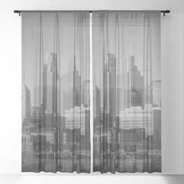 minneapolis minnesota skyline Sheer Curtain