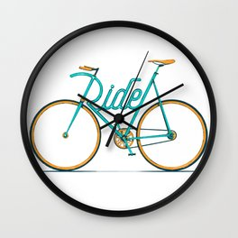 Ride Typo-Bike Wall Clock