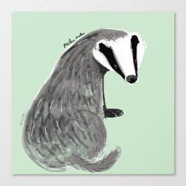 Adorable Badger ( Meles meles ) Canvas Print