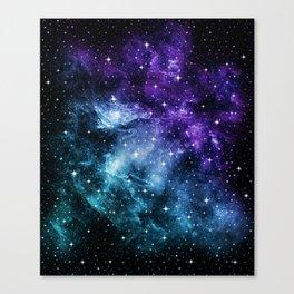 Purple Teal Galaxy Nebula Dream #1 #decor #art #society6 Canvas Print