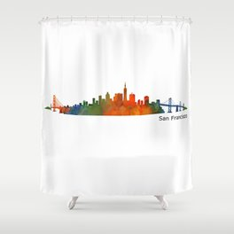 San Francisco City Skyline Hq v1 Shower Curtain