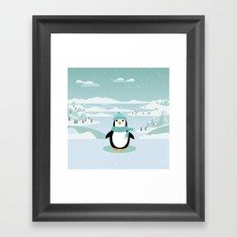 AFE Winter Penguin Framed Art Print