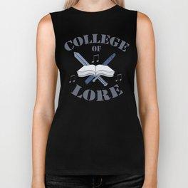 College of Lore Biker Tank