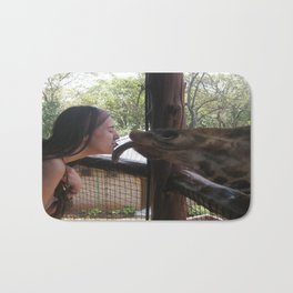 Giraffe Kisses! Bath Mat
