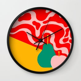 apple and pear Wall Clock