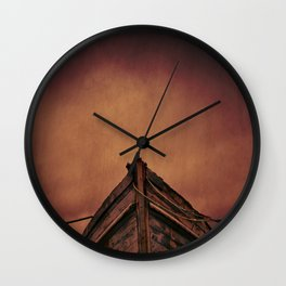 The Old Wooden Boat Wall Clock