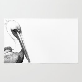 Black and White Pelican Rug
