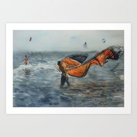 red kite Art Print