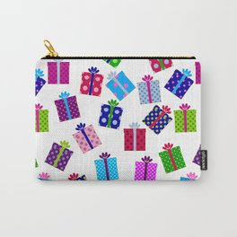 Polka Dot Present Pattern Carry-All Pouch