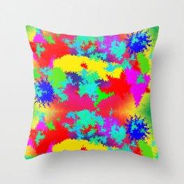 Colourful Random Trippy Pattern Throw Pillow