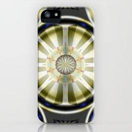 Pinwheel Hubcap in Sepia iPhone Case
