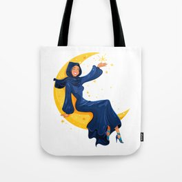 Lady on the Moon Tote Bag