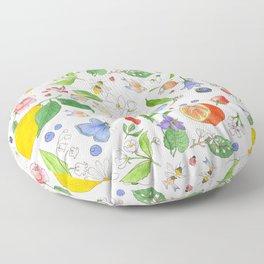 English Garden Floor Pillow