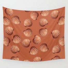 Orange big Clam pattern Illustration design Wall Tapestry