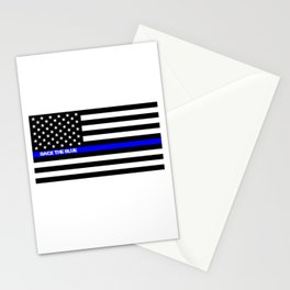 Back the Blue Thin Blue Line Stationery Cards