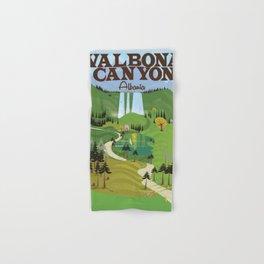 valbona canyon, Albania holiday poster. Hand & Bath Towel