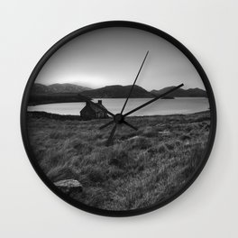 Old Cottage at Loch Stack Wall Clock