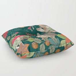 Animals In The Woods Floor Pillow