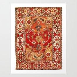 Transylvanian West Anatolian Carpet Print Art Print