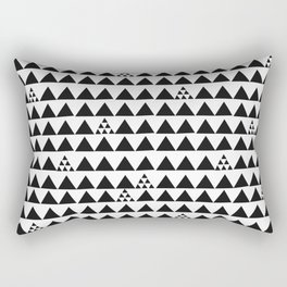 Black geometric print Rectangular Pillow