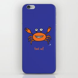 Mr and Mrs Cabby Amanya Design Blue Single FEED ME! iPhone Skin