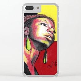 Nina Simone Painting Clear iPhone Case