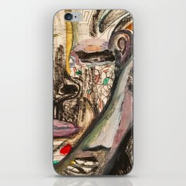 Compartmentalized Color Faces iPhone Skin