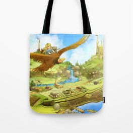 Flying On Polly Over an Enchanted Land Tote Bag