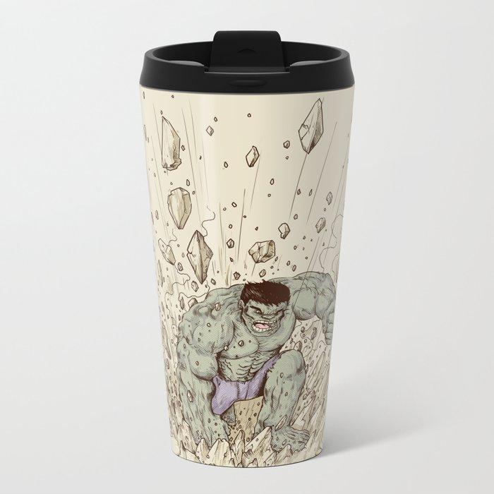 Hulk Smash Metal Travel Mug