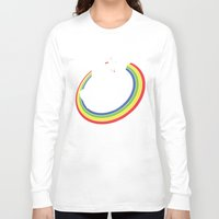kitty Long Sleeve T-shirts featuring Epic Combo #23 by Jonah Makes Artstuff