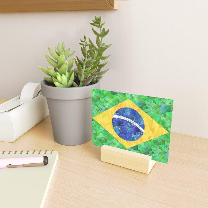 BRASIL em progresso Mini Art Print