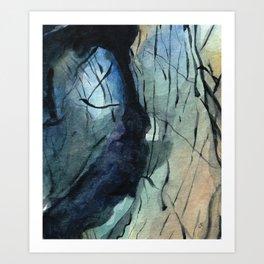 Labradorite Crystal Watercolor Art Print