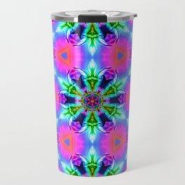 Cannabaphomet (Psychedelic Glitch Mandala Remix Version) Travel Mug