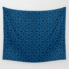 My Lucky Day Snorkel Blue Wall Tapestry