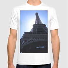 The Eiffel Tower MEDIUM Mens Fitted Tee White